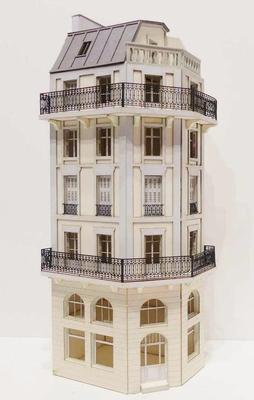 Immeuble d'angle fond de décor 6 étages  109