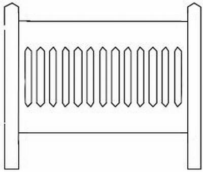 Barrières béton 111 type Nord