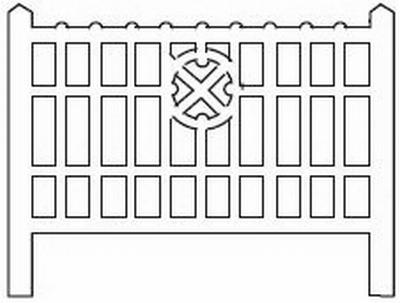 Barrières béton 113 type Nord