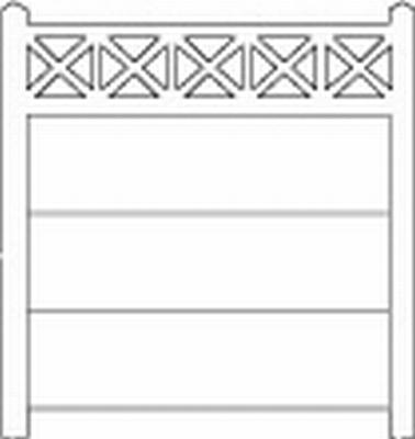 Clôture haute béton 202 type unifié