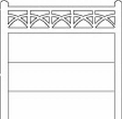 Clôture haute béton 203 type unifié