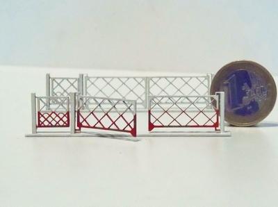 Barrières pivotantes 2 vantaux + portillons pour PN 4m