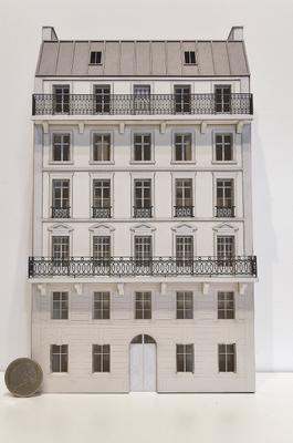 Immeuble fond de décor 6 étages 105