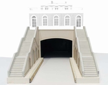 Escaliers, entrée de tunnel, quais type Petite Ceinture