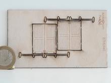 2 portes en bois sur glissière