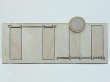 2 portes en bois ouvertes sur glissière