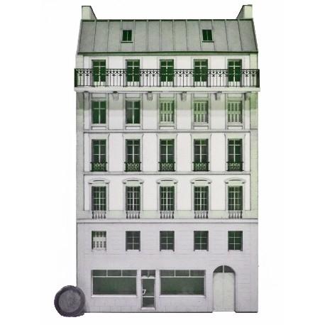 Immeuble fond de décor 6 étages 103 (-HO-)