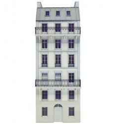 Immeuble fond de décor 6 étages 101 (-HO-)