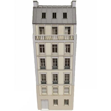 Immeuble fond de décor 6 étages 104 (-HO-)