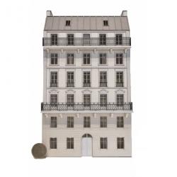 Immeuble fond de décor 6 étages 105 (-HO-)