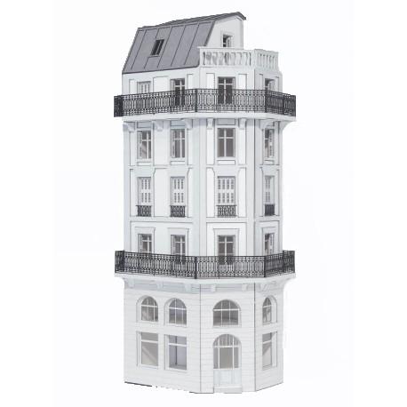 Immeuble d'angle fond de décor 6 étages 109 (-HO-)
