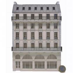 Immeuble fond de décor 5 étages 107 (-HO-)