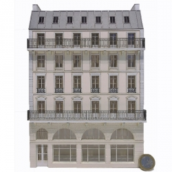 Immeuble fond de décor 5 étages 107