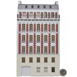 Immeuble fond de décor 6 étages 111 (-HO-)