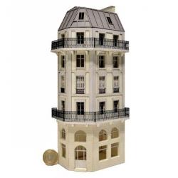 Immeuble d'angle fond de décor 6 étages 113 (-HO-)