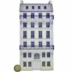Immeuble fond de décor 6 étages 102 (-HO-)