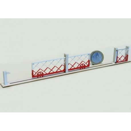 2 Barrières roulantes + portillons pour PN 4m