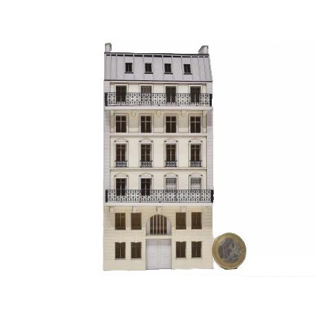 Immeuble fond de décor 6 étages 102 (-N-)