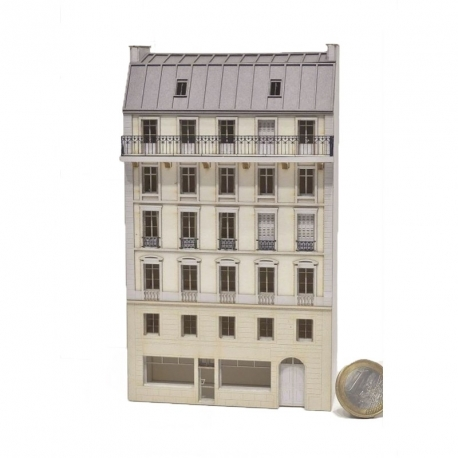 Immeuble fond de décor 6 étages 103 (-N-)