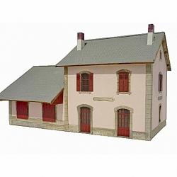"""BV + halle 2 portes """"MIDI"""" type «Gare d'Aumont-Aubrac » (-HO-)"""