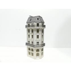 Immeuble de fond de décor Haussmannien angle droit