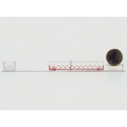 2 Barrières roulantes + portillons pour PN 6m (-HO-)