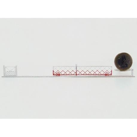 2 Barrières roulantes + portillons pour PN 6m