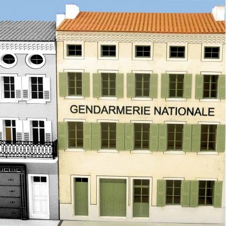 """IMMEUBLE DE VILLAGE POUR FOND DE DECOR """"GENDARMERIE NATIONALE"""" -COTE SUD- (-HO-)"""