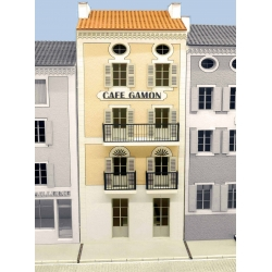 "IMMEUBLE DE VILLAGE POUR FOND DE DECOR (FDD) ""CAFE GAMON"" -COTE SUD- (-HO-)"