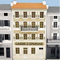 """IMMEUBLE DE VILLAGE POUR FOND DE DECOR (FDD) """"CAISSE D'EPARGNE"""" -COTE SUD- (-HO-)"""