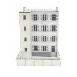 """IMMEUBLE POUR FOND DE DECOR """"COTE JARDIN"""" 4 fenêtres + WC extérieur"""