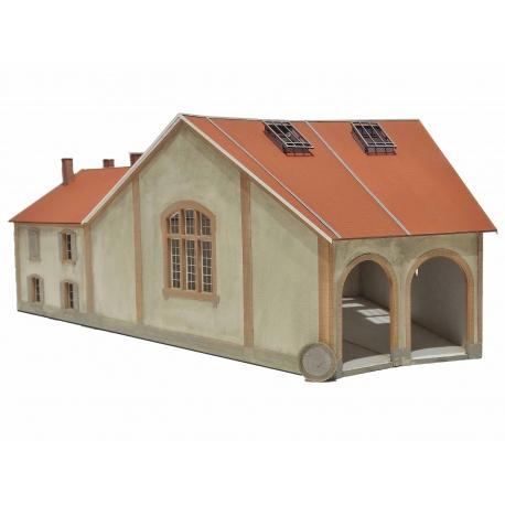 "Rotonde ""MIDI"" 2 stalles + dortoir type« Gare d'Aguessac » (-HO-)"