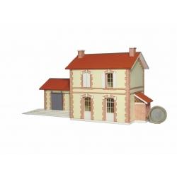 BV avec halle accolée CDA (chemin de fer de l'Aisne) « Gare de Pont-Saint-Mard » (-HO-)