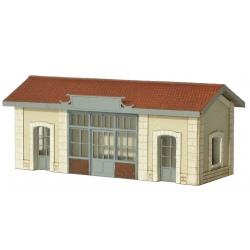 """Abri de quai """"PLM"""" type «Gare de Saint Désert » (-N-)"""