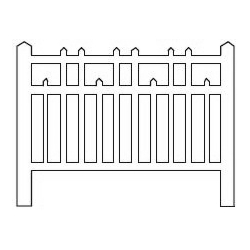 Barrières béton 98 type Est (-HO-)