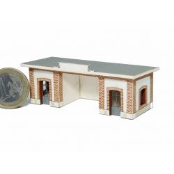 """Abri de quai """"PLM"""" Cévennes type «Gare de Jonchères » (-N-)"""
