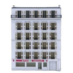 Immeuble fond de décor 6 étages 132 (-N-)
