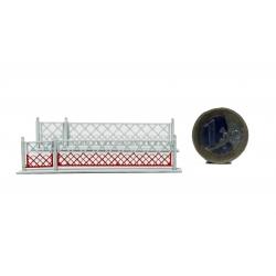 2 Barrières pivotantes + portillons pour PN 4m (-HO-)