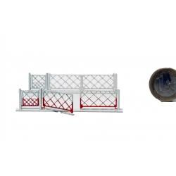 2 Barrières pivotantes 2 vantaux + portillons pour PN 4m (-HO-)