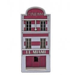 """IMMEUBLE DE VILLE POUR FOND DE DECOR """"CINEMA MIAMI"""" (-N-)"""