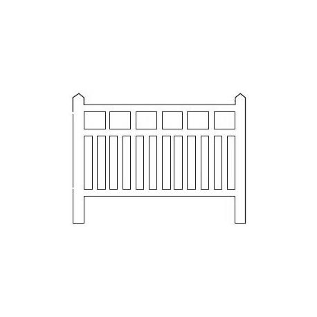 Barrières béton 100 type Ouest/Etat (-HO-)