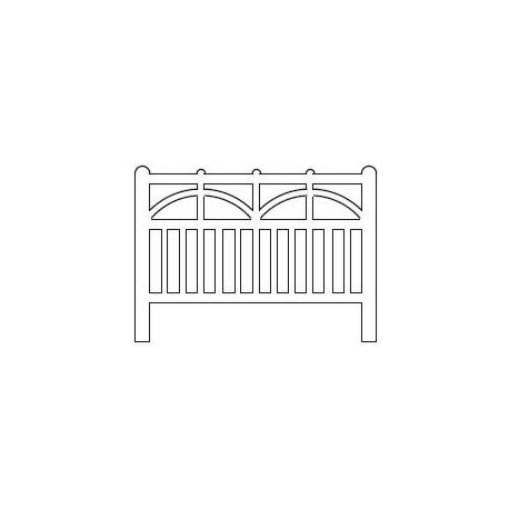 Barrières béton 102 type Ouest/Etat (-HO-)