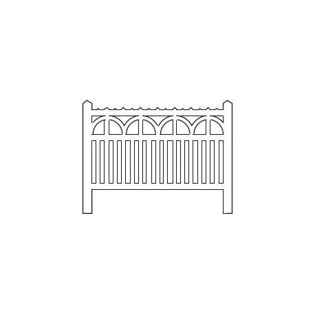 Barrières béton 108 type PO-Charentes (-HO-)