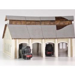 """Kit de Base 4 stalles rotonde """"PO"""" type «Gare de St Sulpice –Laurière »"""