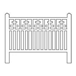 Barrières béton 112 type Lorraine (-HO-)