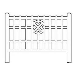 Barrières béton 113 type Nord (-HO-)
