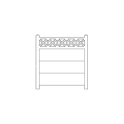 Clôture béton 202 type unifié