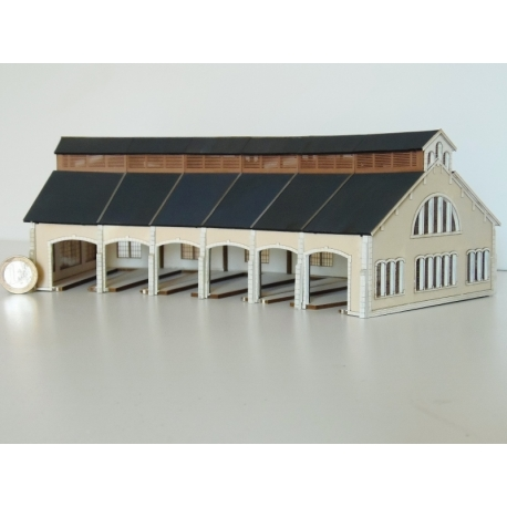 """Kit de Base 6 stalles rotonde """"PO"""" type «Gare de St Sulpice –Laurière » (-N-)"""