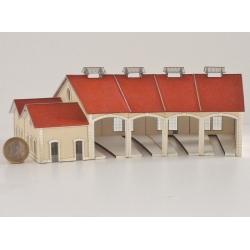 """Kit de Base 4 stalles rotonde """"PLM"""" type « Autun »"""