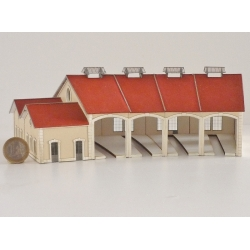 "Kit de Base 4 stalles rotonde ""PLM"" type « Gare d'Autun »"